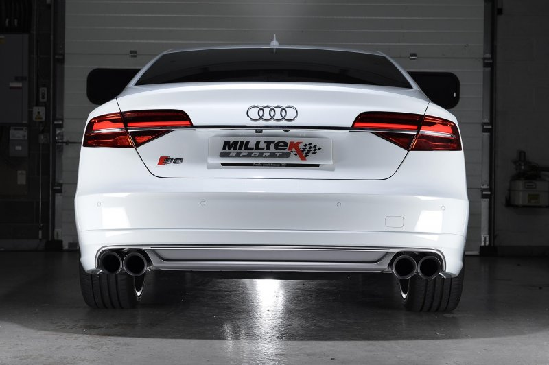 Audi S8 D4 4.0 TFSI Milltek Sport Cat-Back Exhaust System ...