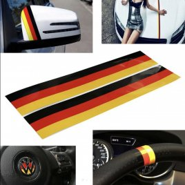 German flag stripes stickers