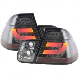 BMW E46 LED Baklampor Svart 1998-2006