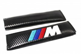BMW M seat belt shoulder pads carbon fiber