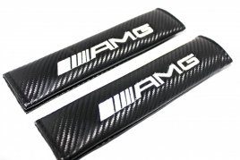 Mercedes AMG carbon fiber seat belt shoulder pads