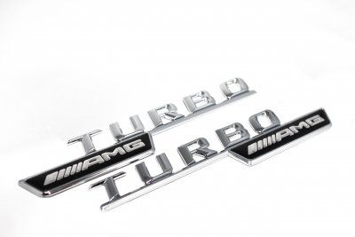 Mercedes Benz AMG Turbo emblem
