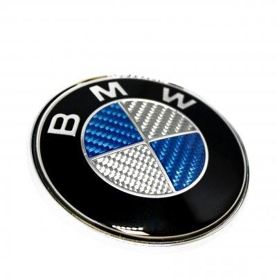 bmw emblem carbon fiber 82mm 74mm emblems. Black Bedroom Furniture Sets. Home Design Ideas