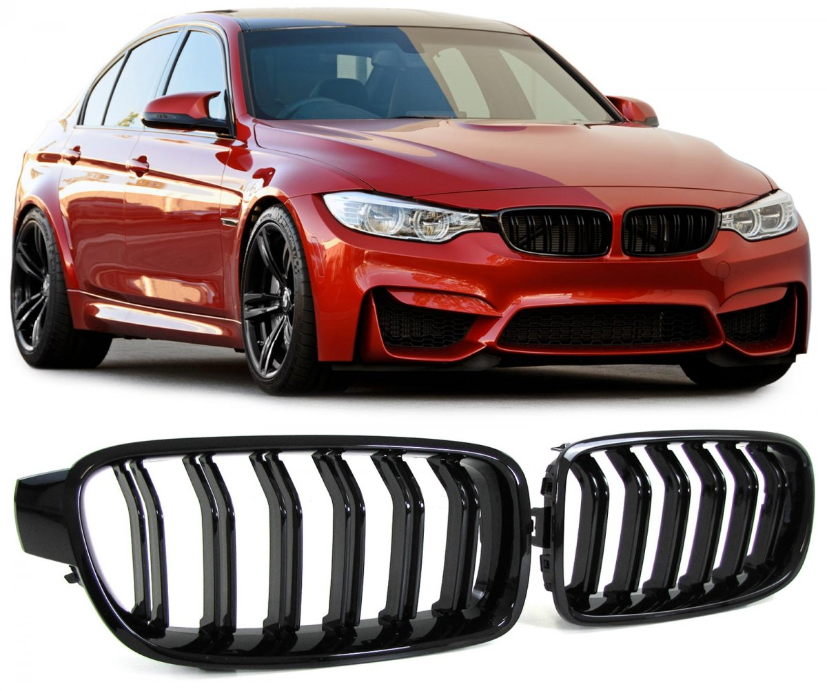 Bmw F30 F31 M Gloss Black Kidney Grille Grille