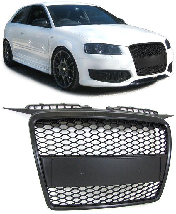 audi a3 8p rs grille 2005 2008 grille. Black Bedroom Furniture Sets. Home Design Ideas