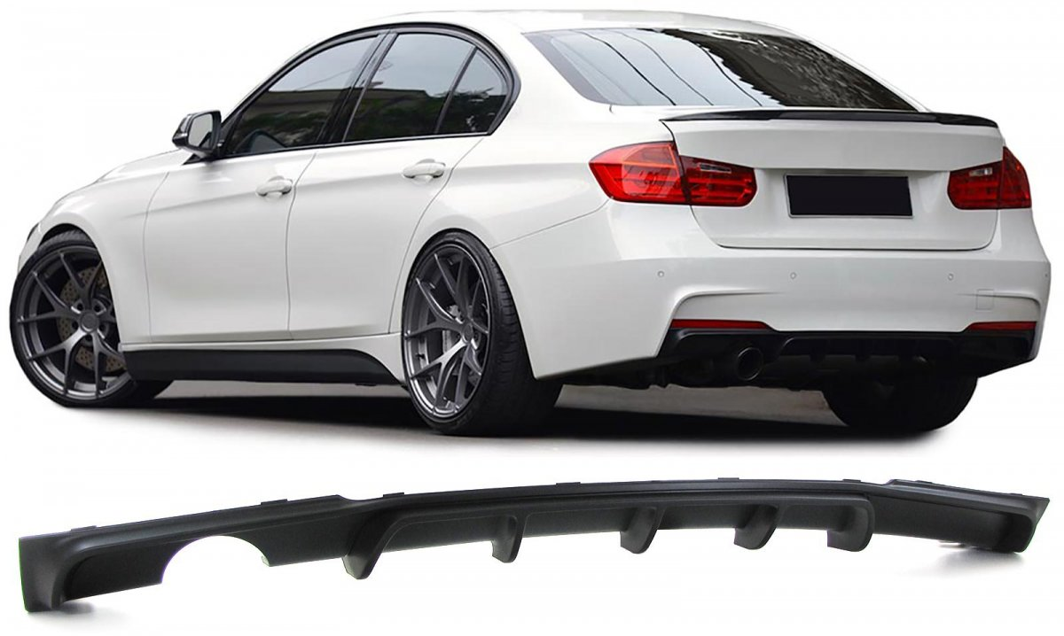 bmw f30 f31 rear diffuser m performance body kit. Black Bedroom Furniture Sets. Home Design Ideas