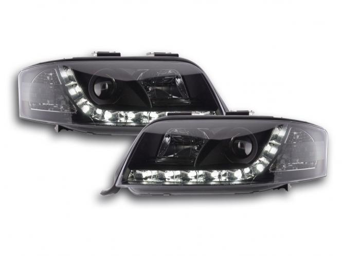 Audi A6 C5 Devil Eyes Drl Headlight Black
