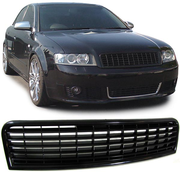 Audi A4 S4 B6 Black Grille Grille B6 2001 2006
