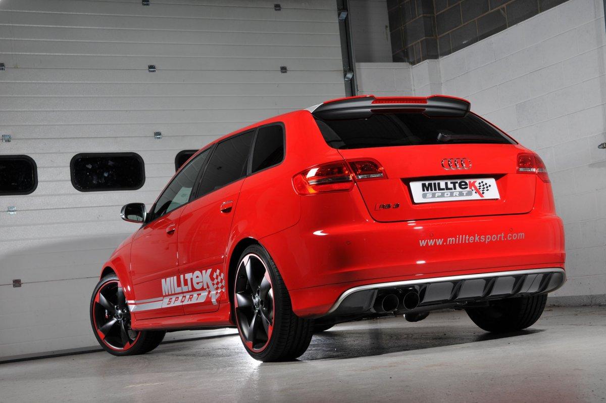 Audi RS3 8P 2,5 TFSI Milltek Sport Cat-Back Exhaust System ...