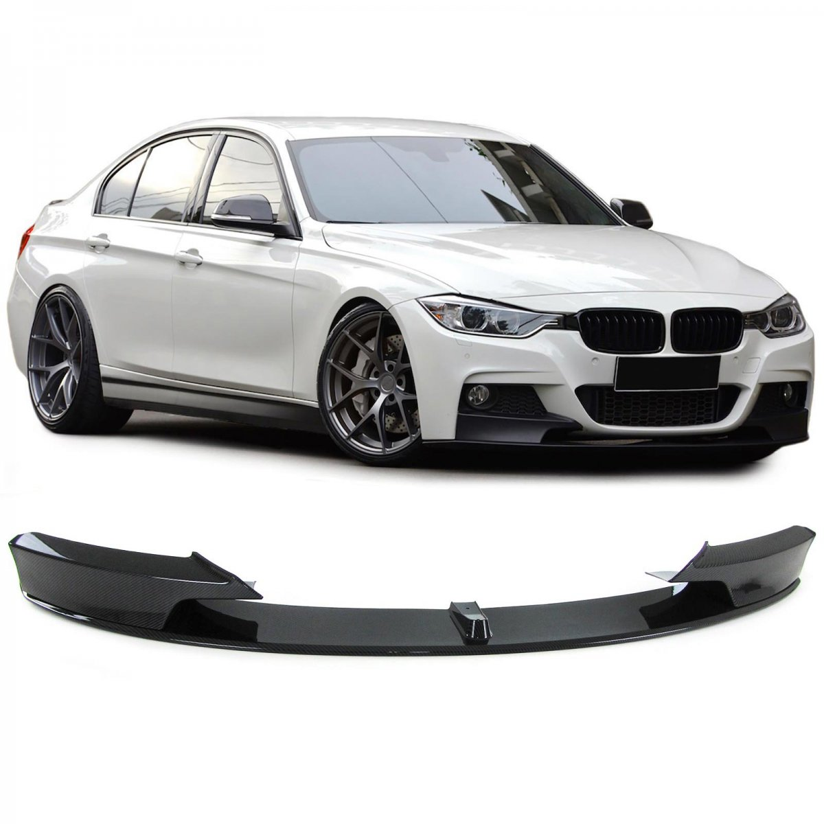 bmw f30 f31 front lip m performance body kit. Black Bedroom Furniture Sets. Home Design Ideas