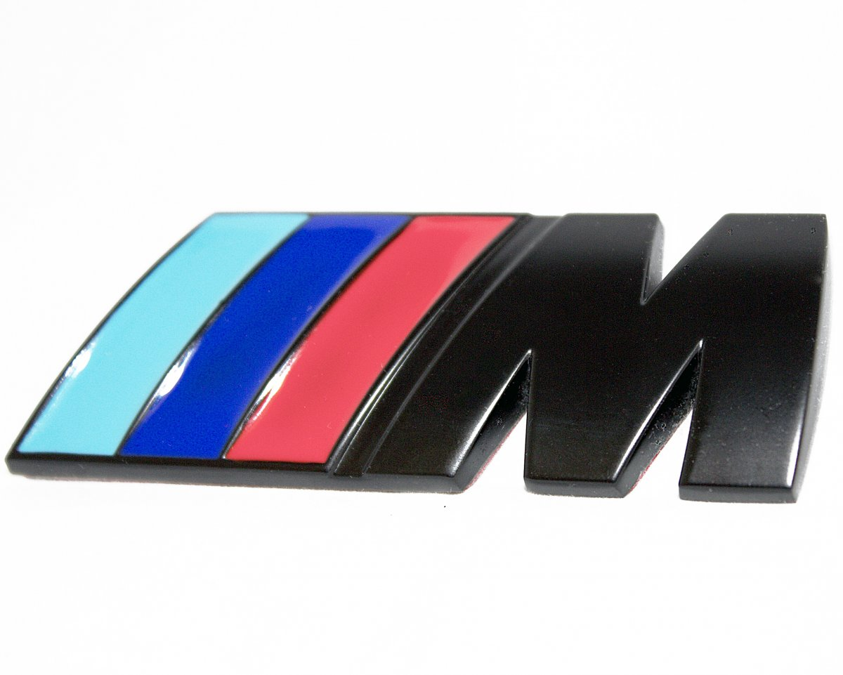 bmw m emblem matte black emblems e81 e87 04 12. Black Bedroom Furniture Sets. Home Design Ideas